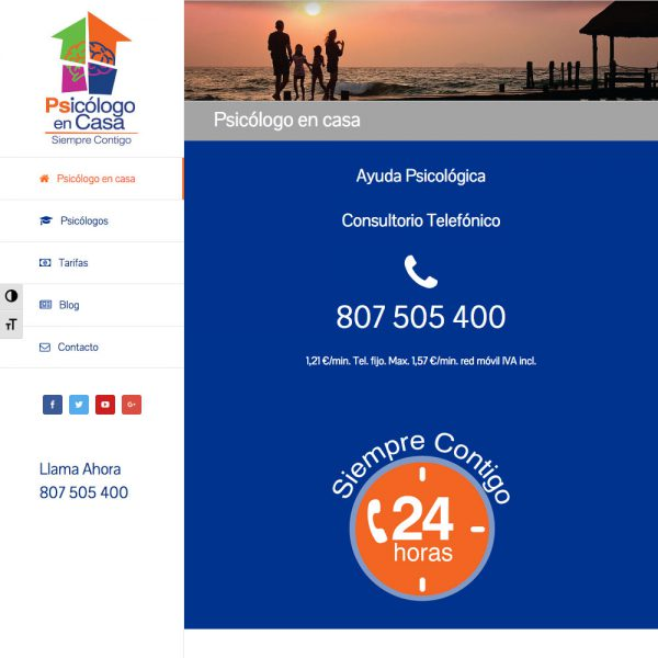 desarrollo web freelance Psicólogo en Casa