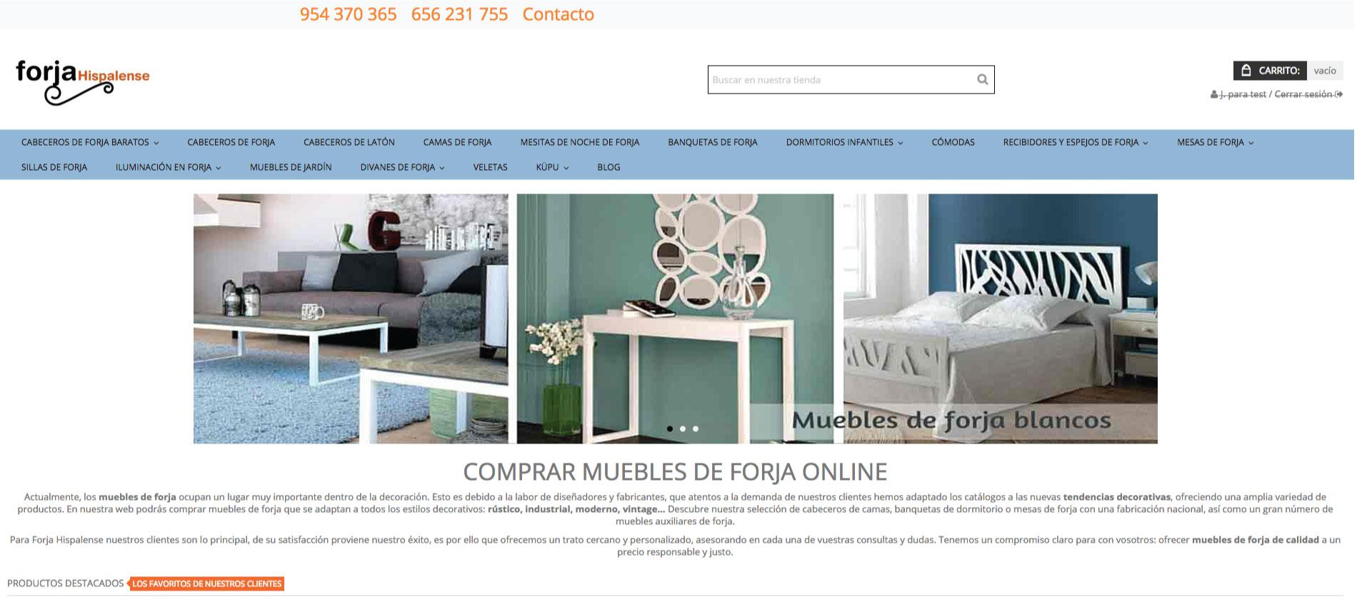 diseño web Forja Hispalense