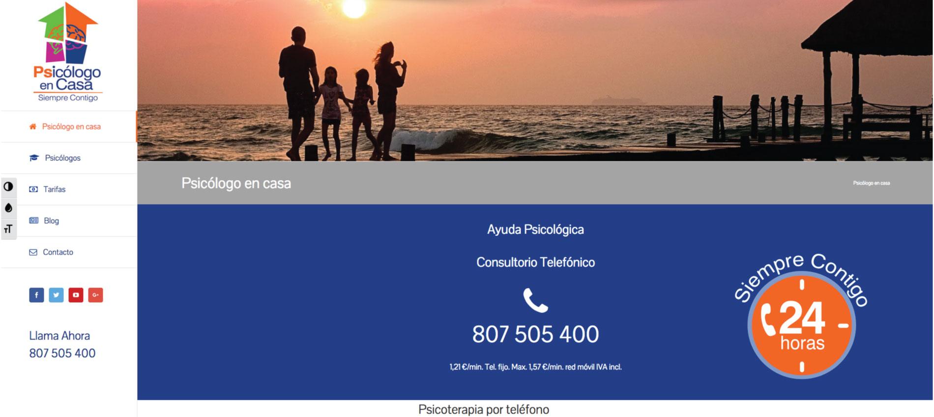 diseño web freelance Psicólogo en Casa