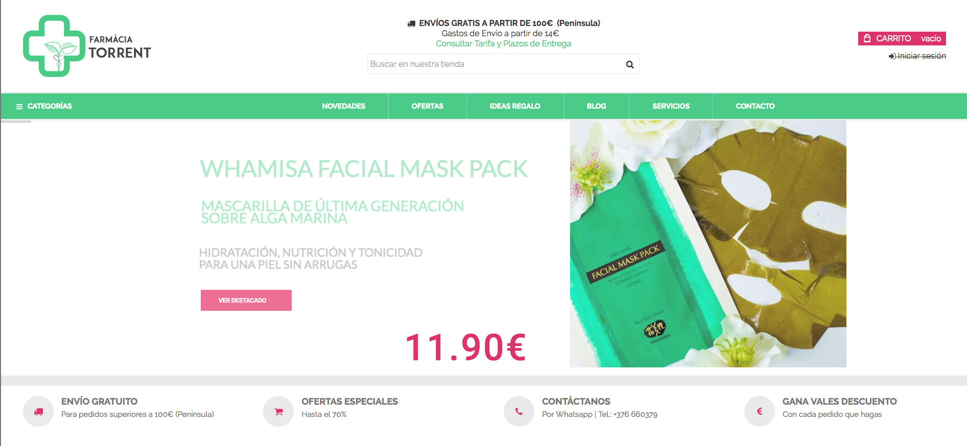 Ecommerce para Farmacia Torrent