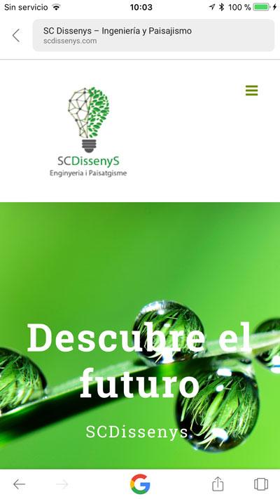 Versión móvil web de SCDissenys